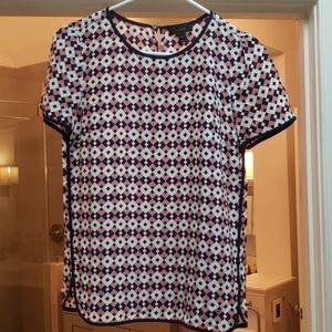 J.crew short sleeve blouse size 0